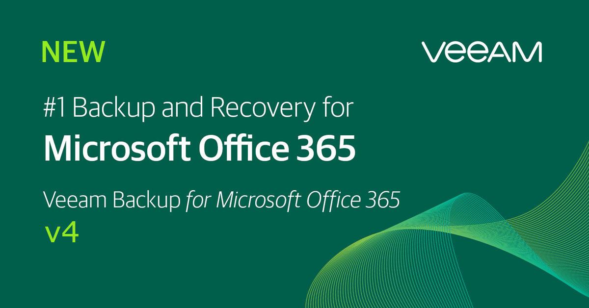 Veeam Bcakup for Office 365 version 4