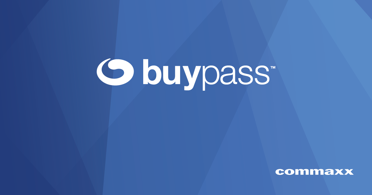 Buypass logo header by Commaxx