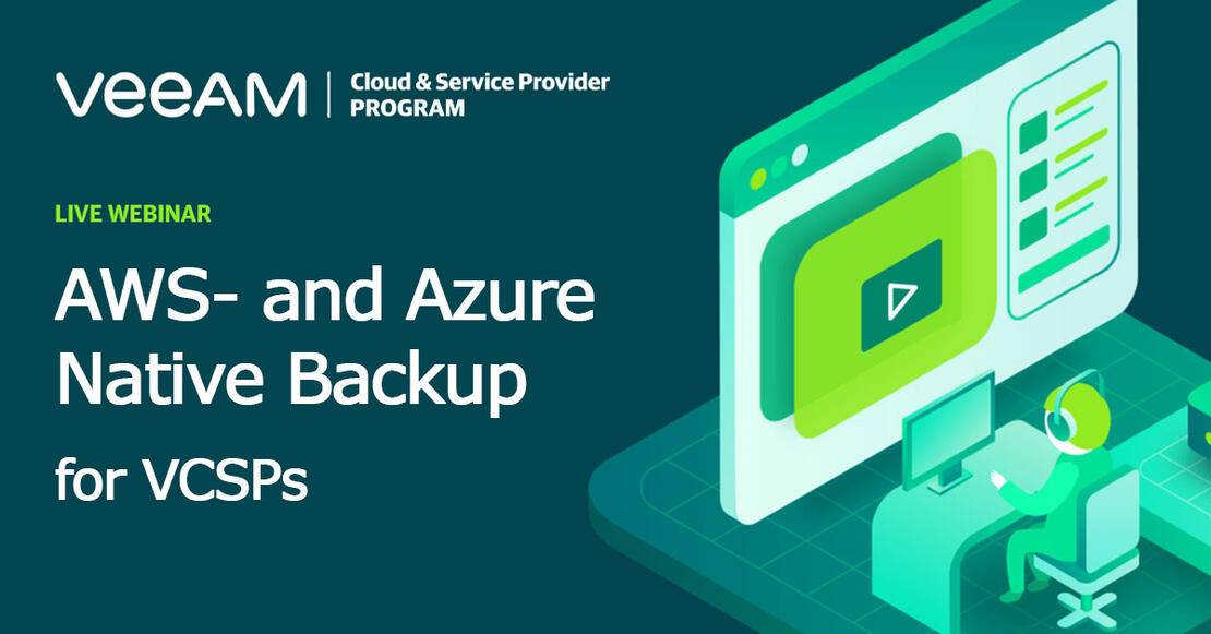 AWS- and Azure native backup for Cloud & Service Providers