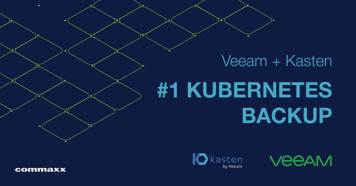 Veeam + Kasten: #1 Kubernetes Backup